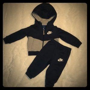 Nike sweat pant and jacket set 12mo